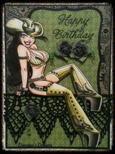 MyCarden: Birthday Wishes - Loves Rubberstamps Sensational Sunday Blog Hop - Created by Design Team member Dangina Martinez using KennyK