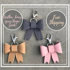 e244960a5 bow keychain, leather keychain, Fairytale gift, coworker gift, clothing  gift, Clothing Gift, sister