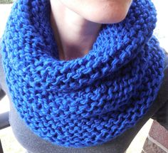 Royal Blue Knit Infinity Scarf