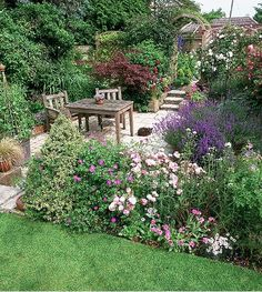 Sitting group, borders and arbor