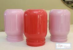 Painted Mason Jar Vase (Paint On The Inside)