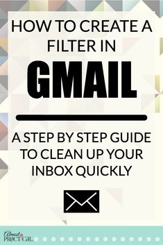 How to create a filter in Gmail - use these Gmail tips and hacks to organize your inbox quickly. Learn how to create a filter in Gmail. Use these Gmail tips to clean up your email inbox, and get to inbox to zero with this step by step guide. Technology Hacks, Computer Technology, Computer Programming, Medical Technology, Energy Technology, Python Programming, Business Technology, Simple Life Hacks, Useful Life Hacks