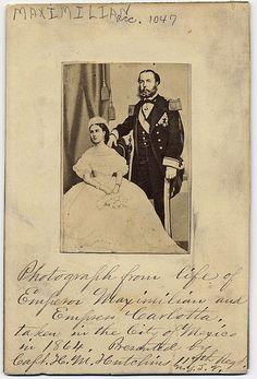 Emperor Maximilian and Empress Charlotte of Mexico, 1864.