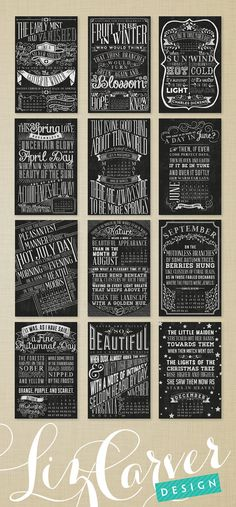 2014 Quotable Chalkboard Typography Wall by lizcarverdesign