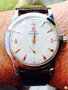 Stunning Vintage Omega Seamaster With White Waffle Dial Circa 1950s :: omegaforums