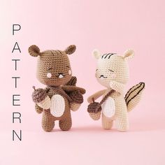 Amigurumi crochet cute chipmunk Rooney the por BubblesAndBongo