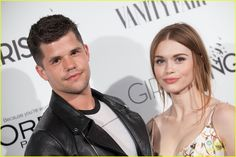 Holland Roden and Max Carver for Vanity Fair And L'Oreal Paris Girl Rising Benefit - Arrivals at 1 OAK in West Hollywood, California - February 20, 2015.
