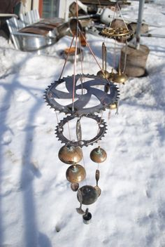 Bicycle gear wind chime