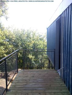 Container House in Muntanyola (Barcelona). Nova, Building A Container Home, Container Architecture, Construction Process, Barcelona, Stairs, David, House, Decor
