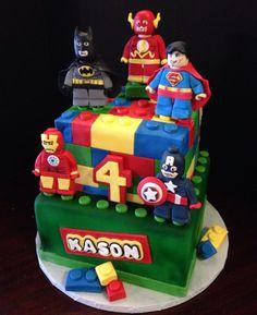 Lego avenger cake