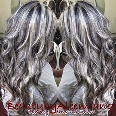 Grey Hair Wig, Silver Grey Hair, Lace Hair, Blonde Hair, Low Lights Hair, Light Hair, Hair Color And Cut, Brown Hair Colors, Gray Hair Highlights