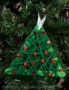 DIY Christmas Ornaments : DIY Yarn Wrapped Christmas Tree Ornament