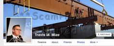 #scam #facebook #romance Travis M Mize....FAKE PROFILE https://www.facebook.com/LoveRescuers/posts/609161769250254 SCAMHATERS UTD (FB AND DATING SITES)