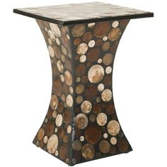 @Overstock - The mother of pearl inspired modern stool will sure make a statement. With jewel like tones of ivory, brown and beige in an black base, this stool made from sea shells is a welcomed addition in any contemporary and modern.http://www.overstock.com/Home-Garden/Safavieh-Dagmar-Black-Brown-Stool/7388253/product.html?CID=214117 $209.69