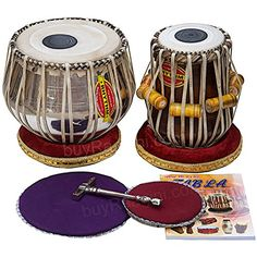 Mukta Das Concert Tabla Drum Set Chrome Tabla Copper Bayan Finest Dayan with Padded Bag Book Hammer Cushions  Cover PDIAEB -- Learn more by visiting the image link.Note:It is affiliate link to Amazon.