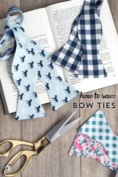 Learn how to sew a bow tie that really ties! A free simple free sewing tutorial on polkadotchair.com