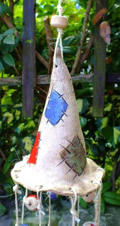 Clay Creations, Clay Crafts, Wind Chimes, Halloween Party, Cement, Christmas Ornaments, Holiday Decor, Outdoor Decor, Inspiration