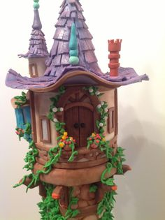 A Tangled 4Th Birthday Made for my granddaughter's 4th birthday. Lots of prep on this! The tower is built on PVC pipe, then inserted...