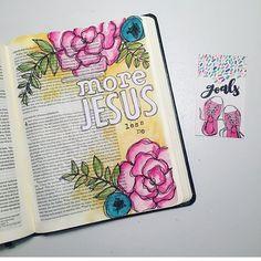 Bible journaling by bible journaling inspirations библия, рис Faith Bible, My Bible, Bible Scriptures, Bible John, Bible Notes, Art Journaling, Bible Study Journal, Journal Art, Bible Drawing