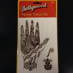 Bollywood Henna Tattoo Kit! In less than a minute you could look like the Queen of Bollywood! Try it!