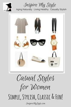 casual styles for women that are fun, simple and colorful #casualstyle #fashionover50