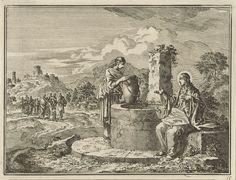 Jan Luyken | Christus en de Samaritaanse vrouw, Jan Luyken, 1712 |