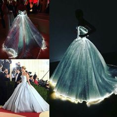 Zac Posen Magical Glowing dress worn by Claire Danes @ Met Gala 2016