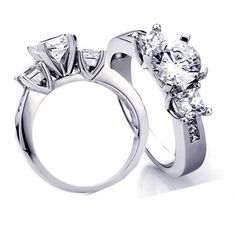 Make the special moment to be treasured forever with this scintillating diamond semi mount engagement ring. This ring features the princess cut diamonds, the largest an impressive arranged across the center. Radiant with 0.45 ct. total weight of diamonds, this engagement ring is a brilliant beginning to your romantic love story.