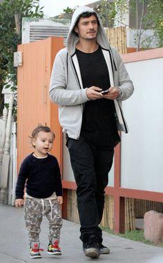 Cuteness overload!!! Orlando Bloom & his son Flynn