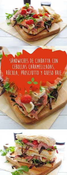 final-tomate Ciabatta, Prosciutto, Queso Brie, Sandwiches, Quick Easy Meals, Hummus, Easy Recipes, Tacos, Wraps