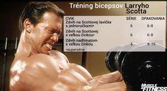 Tréning bicepsov Larryho Scotta