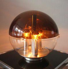 Modernist space age table lamp mid century vintage Guzzini era
