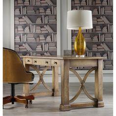 Hooker Furniture 638 10005 Melange Architectural Writing Desk In Light Wood