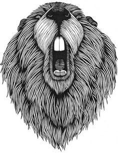 Coloring Beaver Totem