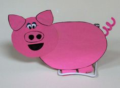 Pig pig with curly tail.