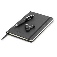 Stanford Notebook and Pen with USB, Corporate Gift Set
