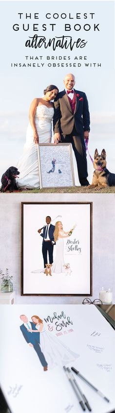 Looking for a guest book alternative that is fun, unique, and not like every other guest book out there? Miss Design Berry creates one-of-a-kind guest book alternatives that feature a custom portrait illustrated to look just like you will look on your wedding day. Get paired with your own designer and get started today! Order 9+ months ahead of your wedding and save 15% off your entire order!