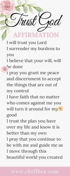 Trust God Affirmation Affirm that you know that God is in control. This affirmat… Trust God Affirmation Affirm that you. Prayer Scriptures, Bible Prayers, Faith Prayer, God Prayer, Prayer Quotes, Power Of Prayer, Faith In God, Spiritual Quotes, Faith Quotes