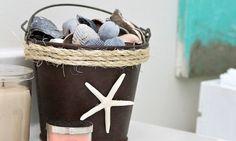 Decorando balde de ferro velho qualquer cantinho de seu lar ou de sua festa vai ficar ainda mais esp