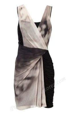 Karen Millen Black Print Grey Dress - $119.99 : Prom Dresses,Karen Millen Dresses,Herve Leger Dress sale - Dresses up to 30%-60% off