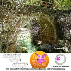 """El """"Puente de las Herrerías"""" es uno de los rincones mas visitados de la Sierra de Cazorla. Dice la leyenda que este puente fue construido en el paso de una noche cuando los soldados cristianos se trasladaban con la reina Isabel La Católica, en lucha contra los moros en la conquista del Reino de Granada."""