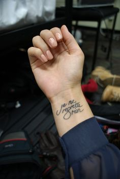 There's something about French that I just love in the form of a tattoo. <3