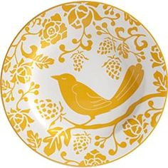 Pier 1 Imports.  Yellow Bird Plate.
