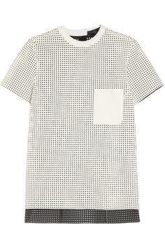 Proenza Schouler | Perforated leather T-shirt. If only everyone would wear t-shirts like this