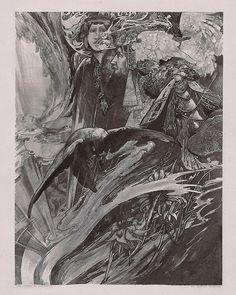 Charles Robinson (1870-1937), The Vision of Valhalla (The Studio: International Art) - 1902.