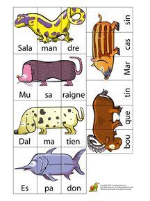 Dieren mixen met dobbelsteen / Méli Mélo des Animaux pour enfants Read In French, Learn French, School Play, Kids Playing, Book Art, Preschool, Classroom, Teaching, Maude