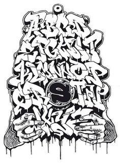 dibujar abecedario o letras en graffiti 6