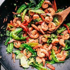 15 minute Garlic Shrimp Stir Fry | The Recipe Critic