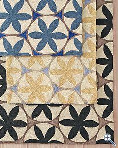 Dijon yellow - a happy lil rug :o)                Hannah Hooked Wool Rug