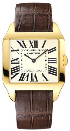 Cartier Santos Dumont 18kt Yellow Gold Mens Watch